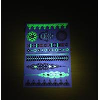 Club Party Metallic Temporary Tattoos Stickers For Adults Flash Glowing In The Dark Manufactures