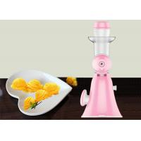 Pink Mini Hand Ice Cream Maker Homemade Pure Juicer No Added Preservatives Manufactures