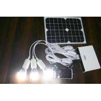 Newest ! 10W mini solar power system with lithium battery for solar home lighting , cam Manufactures