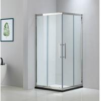China Square stainless steel shower enclosure 900*900 with two sliding doors and two fixed panels on sale