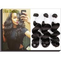 Natural Wave Unprocessed Peruvian Virgin Human Hair Extensions For Women Manufactures
