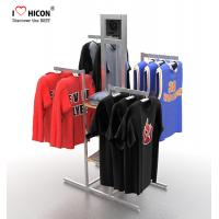 China Your Logo Clothing Store Fixtures Display Clothes Rack 4-way For Retail Store on sale