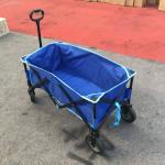 Collapsible Folding Outdoor Utility Wagon, Blue garden cart , beach wagon cart , wheelbarrow trolley Manufactures