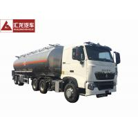 China T7H 2 Axle Aluminum Fuel Tank Semi Trailer With Intelligent Safety System on sale