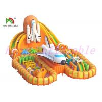 Fire - Retardant Giant  Inflatable Sports Games / Launching Base Unique  Blow Up Obstacle Course Manufactures