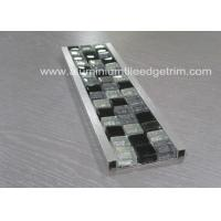 Bathroom Mosaic Tile Trim , Mosaic Tile Corner Pieces Wall Liner Different Size Manufactures