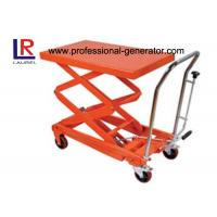 China 350kg Mini Hydraulic Hand Table Truck Mobile Industrial Material Handling Equipment on sale