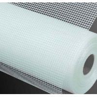 China 145g 5*5mm Alkali Resistant Self-Adhensive Mosaic Title Fiberglass Mesh on sale