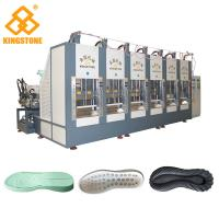 One Color EVA Shock- absorbing Sport Shoe Sole Making Machine With 100-120 Pairs / Hour Manufactures