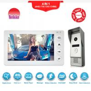 China Wired Video Door Phone Doorbell Intercom camera doorbell with  Night Vision,Support unlock,Record,snapshot functions on sale