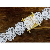 Floral Guipure Water Soluble Lace Trims With Heavy Embroidery For Dresses Ribbon Manufactures