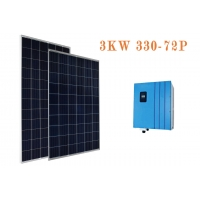 China Single Core 2400Pa 3300W On Grid Solar Panel System on sale