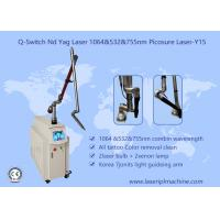 Pure White Q Switch Tattoo Removal Machine , Tattoo Laser Removal Equipment 1-10Hz Manufactures