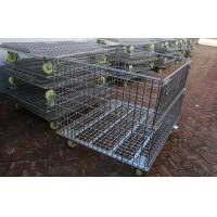 Warehouse Other Material Handling Equipment / Stacking Steel Wire Mesh Storage Cages Manufactures