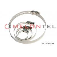 Durable FTTH Accessories , Worm Drive Hose Clamps Stainless Steel 12mm Width Manufactures