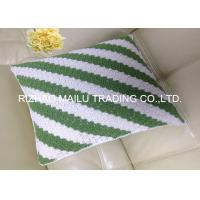 Milk cotton Hollow Out Hand Crochet Cushion Cover White And Green Ripple Pattern Manufactures