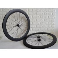 Buy cheap Carbon track wheelset 700c clincher tubular single speed bicycle wheels from wholesalers