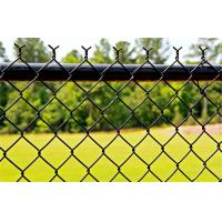Commercial Black PVC Coated Chain Link Fence Fabric For School Sports Fence Manufactures