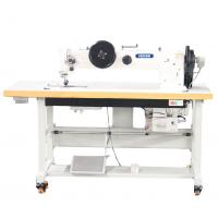 Long Arm Double Needle Compound Feed Walking Foot Heavy Duty Lockstitch Sewing Machine