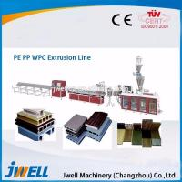 Jwell plastic wood two step profile extrusion line wood plastic composite production line Manufactures