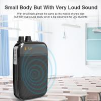 Ultralight Light Mini Portable Voice Amplifier LED Display Rechargeable Loudspeaker with FM for School, Super Market Manufactures