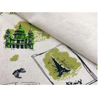 55/45 LINEN COTTON FABRIC BLENDED WITH SCREEN PRINTED     CWT#5254 Manufactures