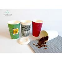 China Insulated Coffee 12 Oz / 20 Oz Paper Cups For Hot Drinks Customized Sizes on sale