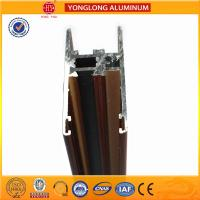 Flat Open Wood Finish Aluminium Profiles 6005 / 6063 For Window Manufactures