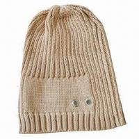 Women's Hat in Cotton Material, with Metal Eyelets, Customized Colors and Sizes Accepted