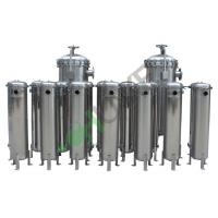 304 316 Stainless Steel 8 Bag Filter Housing Side Inlet For Liquid Filtration CE Standard Manufactures