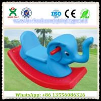 Fun Plastic Elephant Shape Build-Up Rocking Horse Games Horse for Park Items QX-155F Manufactures