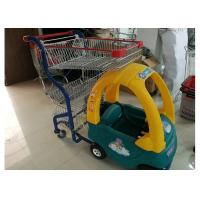 Plastic / Steel Supermarket Children Shopping Cart , Baby Shopping Trolleys Manufactures