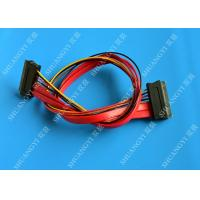 Red SATA Data Cable Slimline SATA To SATA Female / Male Adapter With Power Manufactures