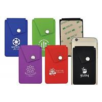 Smart Wallet Mobile Card Holder , Silicone ID Card Holder Pocket Pouch Design Manufactures