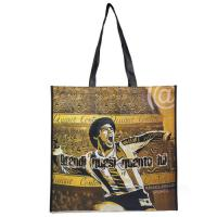 Natural Yellow Polypropylene Tote Bags With Heat  - Transfer Printing Manufactures