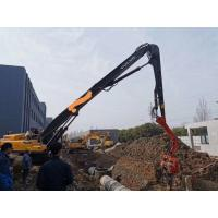 China Excavator Volvo 480  Vibro Pile Hammer With Long Boom For9-18 Meter Steel Sheet Pile and Pile Casing on sale