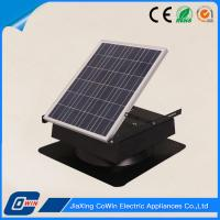 Monocrystalline Panel Solar Roof Vent Fan , Solar Attic Exhaust Fans With Thermostat Manufactures