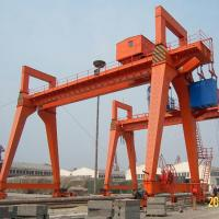 Rail Mounted Gantry Crane MG Type 50T 100T 600T Capacity for Shipyard Manufactures