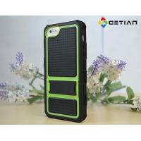 Buy cheap Black Green Lined iPhone 5 Protective Cases for Boy Rugged , Shockproof from wholesalers