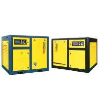 China 16 bar 15kw 20hp 400V screw air compressor with dryer and filter on sale