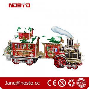 Papercraft Train KIT Puzzle for Kids 3D Constructor for Children,3D Christmas train Manufactures