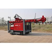 Self propelled on track water Well Drilling Rig 97KW / 420 mm Drilling Hole with hydraulic system Manufactures