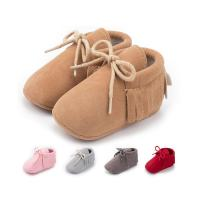 Wholesale Faux suede tassel Anti-slip slip on moccasin infant Walking shoes Baby shoes Manufactures