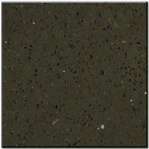 newstar Dark Crystal Brown Quartz vanity countertops Manufactures
