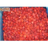 Buy cheap Red Pure Organic Frozen Strawberries Fruit With 20%-30% Nature Floret from wholesalers