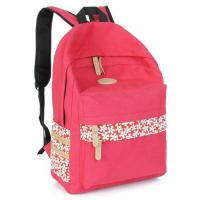 Polyester Red Kid School Bag With Top Handle Adjustable Shoulder Straps Manufactures