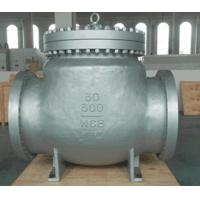 Carbon Steel BW WCB Swing Check Valve Hardfaced With 13 CR RF , Precision Machined Castings Manufactures