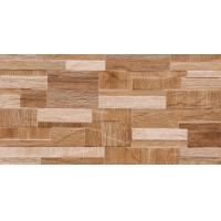 China Wooden Color 3D 600 X 300 Ceramic Wall Tiles Apply  For Kitchen   Brown Or White on sale