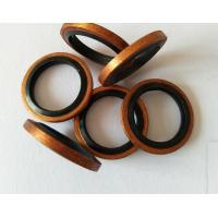 China Non Self Centering Bonded Sealing Washers ,  Red  Copper NBR Pressure Sealing Washers on sale