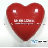 China Heart Shaped Flashing LED Badges For Festival Items , Party Flashing Items on sale